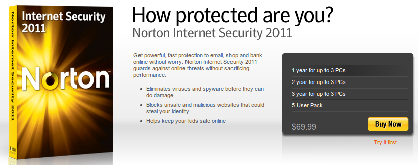 Overzealous malware hunter: Norton Internet Security 2010