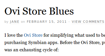Ovi Store Blues