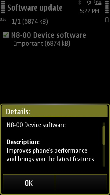 PR 1.1 available for the Nokia N8