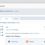 WordPress comments queued for Import into Disqus