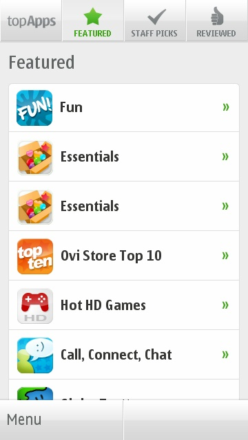 TopApps on Ovi Store
