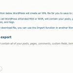wordpress-wxr-export