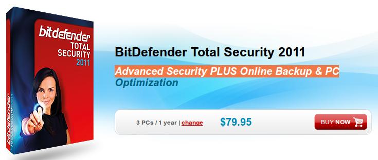 Quick Update: Installation of BitDefender Total Security 2011