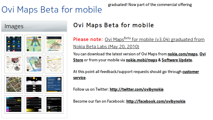 Experimenting with Ovi Maps Beta